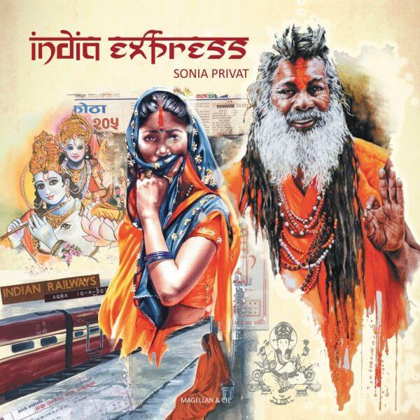 India Express - Couverture Livre - Collection Coups de crayon - Éditions Magellan & Cie