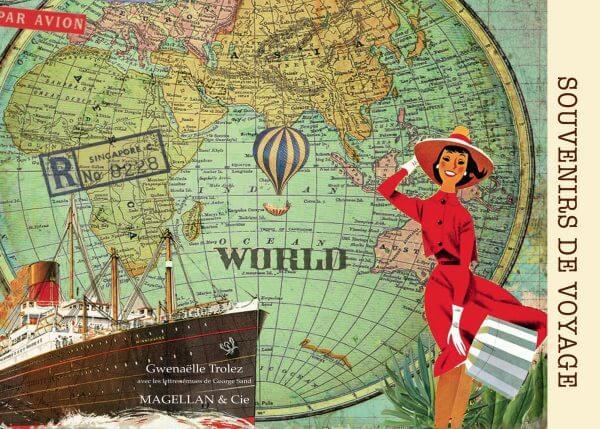 Souvenirs De Voyage - Couverture Livre - Collection Coups de crayon - Éditions Magellan & Cie