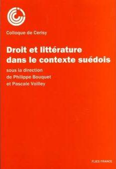 Droit et littérature, contexte suédois - Couverture Livre - Collection Hors collection - Éditions Magellan & Cie